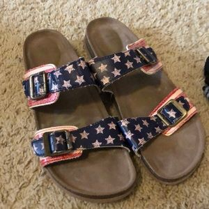 "American Flag ""birkenstocks"""